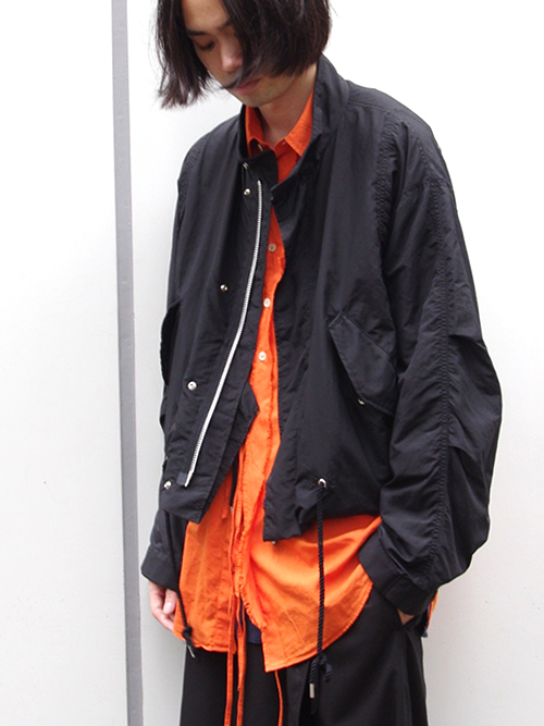 "【18AW】 BED J.W. FORD (ベッドフォード) ""Coach jacket"" 18AW-B-JM05 <ジャケット/ブルゾン> - BLACK"