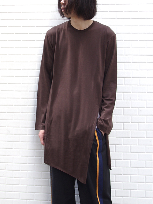"""【18AW】 BED J.W. FORD (ベッドフォード) """"Back henry neck"""" 18AW-B-CS04 <カットソー>  - CHOCOLATE"""