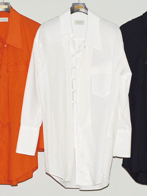 "【18AW】 BED J.W. FORD (ベッドフォード) ""China shirt"" 18AW-B-BL03 <シャツ>  - WHITE"