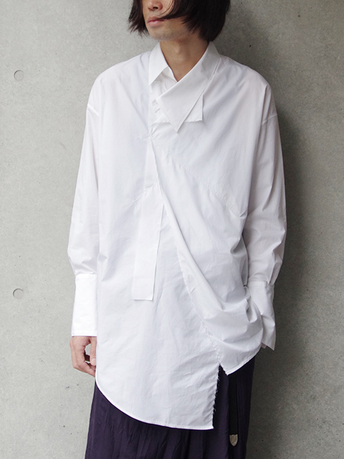 "【18AW】 BED J.W. FORD (ベッドフォード) ""Pullover shirt"" 18AW-B-BL06 <シャツ> - WHITE"