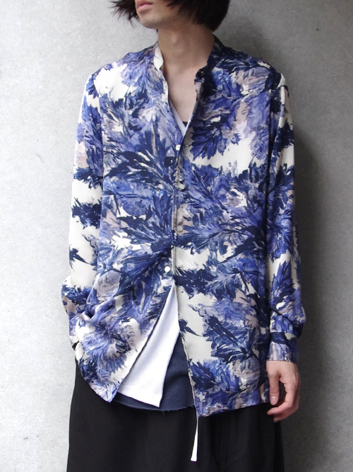 """【18AW】 BED J.W. FORD (ベッドフォード) """"Stand collar shirt"""" 18AW-B-BL09 <シャツ> - 全2色"""