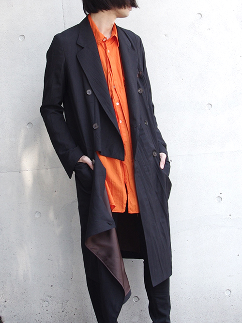 "BED J.W. FORD (ベッドフォード) ""Wrap coat."" 18SS-B-CT01 <コート>  - BLACK"