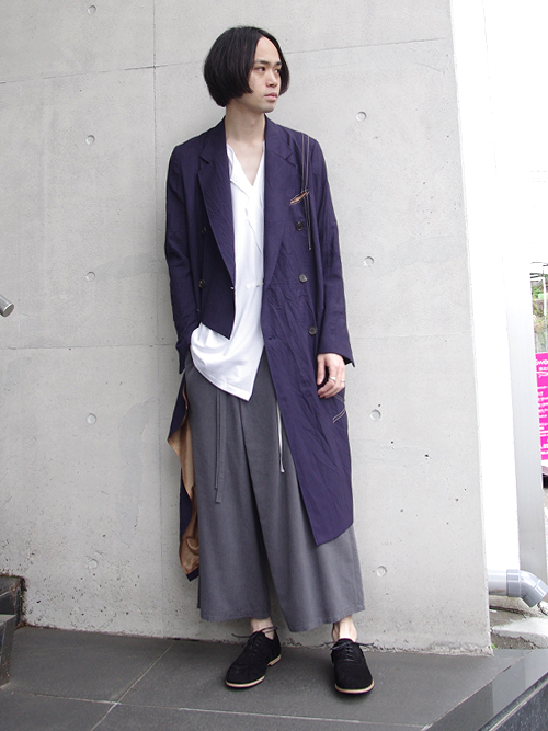"【18SS】 BED J.W. FORD (ベッドフォード) ""Wrap coat."" 18SS-B-CT01 <コート>  - PURPLE"