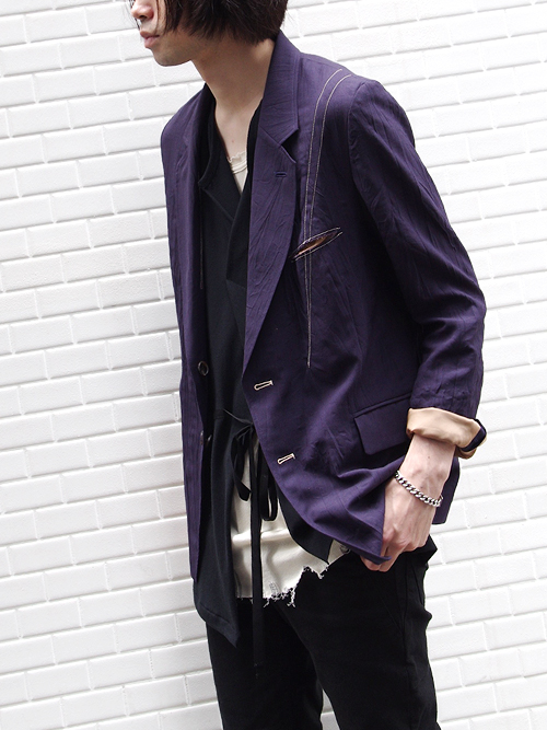 "【18SS】 BED J.W. FORD (ベッドフォード) ""NO PRESSED JACKET."" 18SS-B-JK01 <ジャケット> - PURPLE"