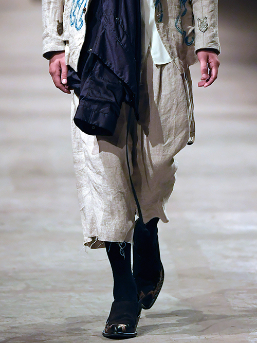 "【19SS】 BED J.W. FORD (ベッドフォード) ""Wide shorts ver.2"" <ワイドクロップドパンツ> - NATURAL"