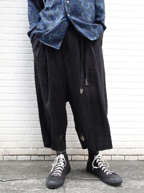 "LAST 1pc.【19SS】 BED J.W. FORD (ベッドフォード) ""Wide shorts ver.2"" <ワイドクロップドパンツ> - BLACK"