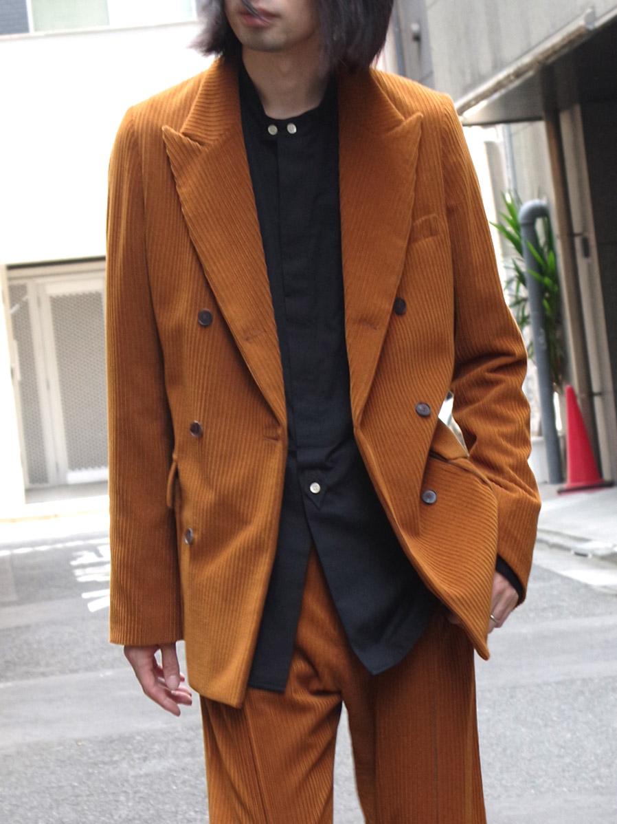 "【2020AW】 BED J.W. FORD (ベッドフォード) ""Corduroy Double Jacket"" <ジャケット>"