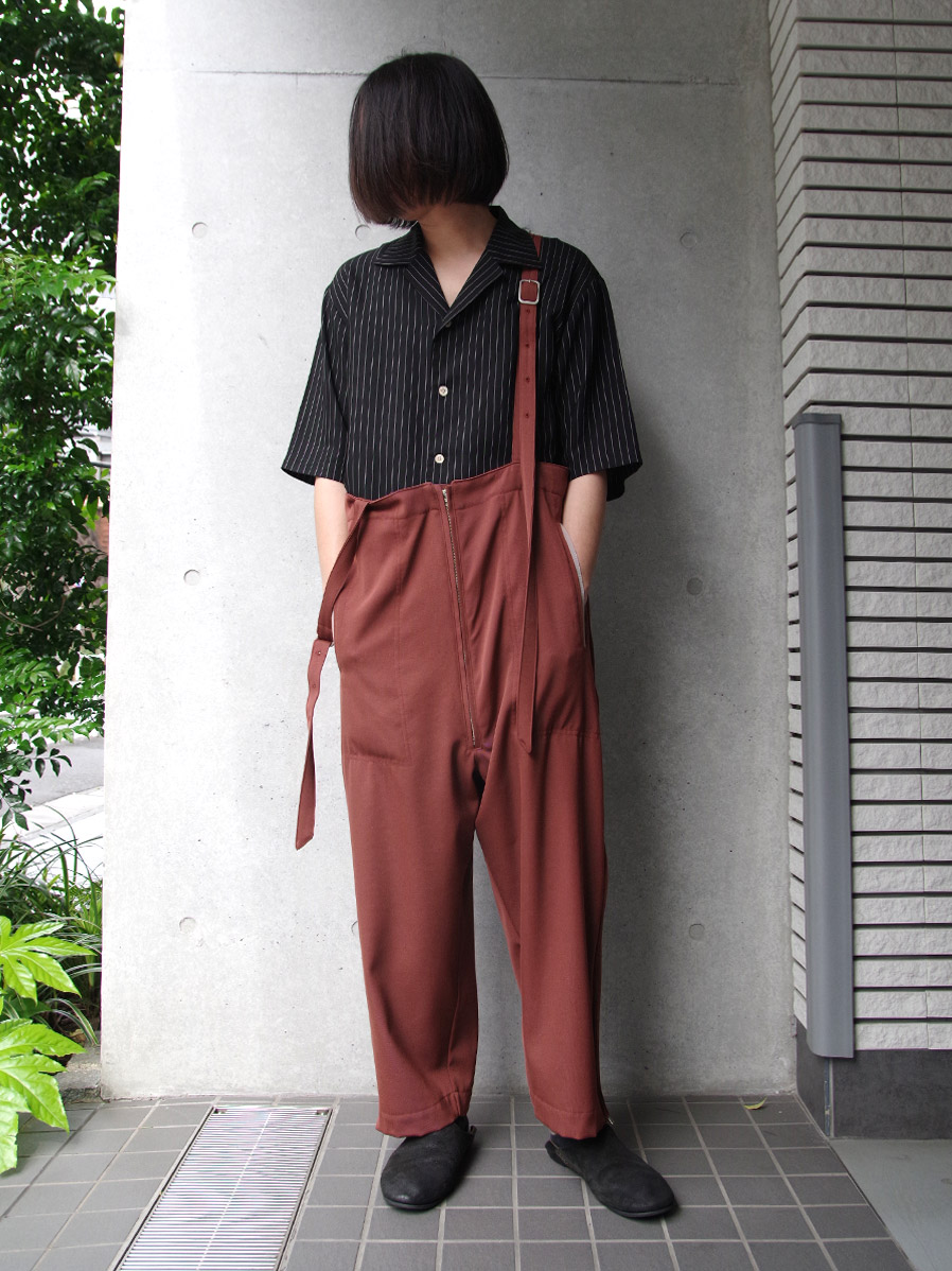 """【2020SS】 BED J.W. FORD (ベッドフォード) """"Wool Over Pants"""" <パンツ> - BROWN"""