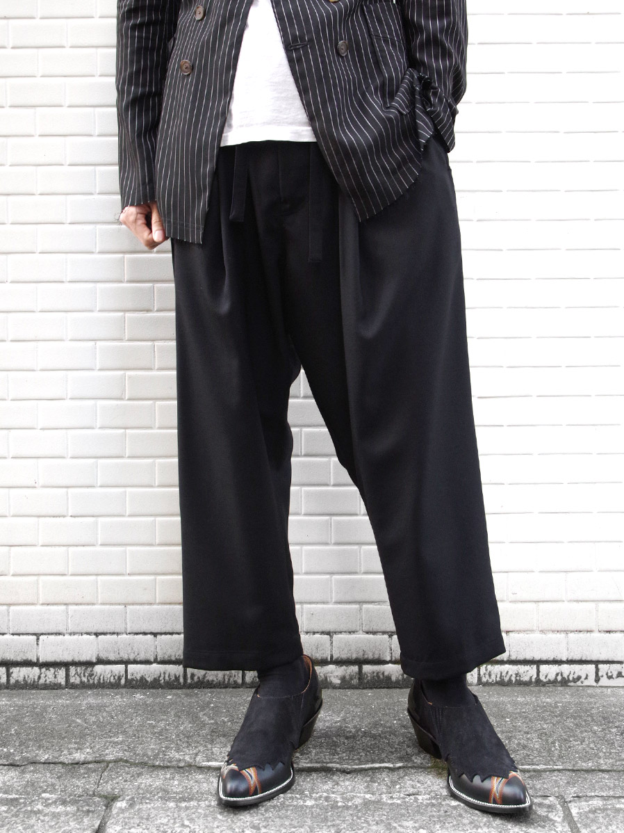 "【2020SS】 BED J.W. FORD (ベッドフォード) ""Wool Easy Pants"" <スラックス> - BLACK"