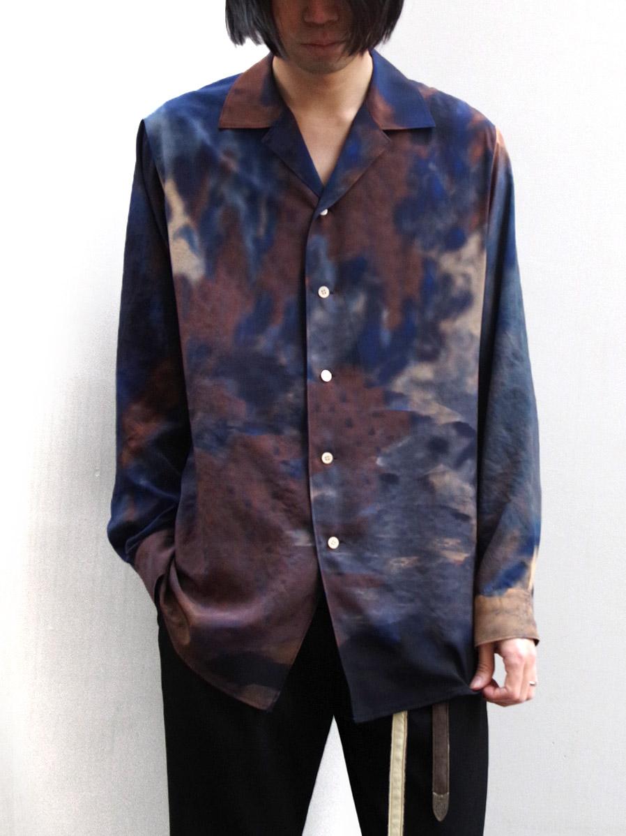 "【2020SS】 BED J.W. FORD (ベッドフォード) ""Print Open Collar Shirt"" <シャツ> - PURPLE(夜の空)"