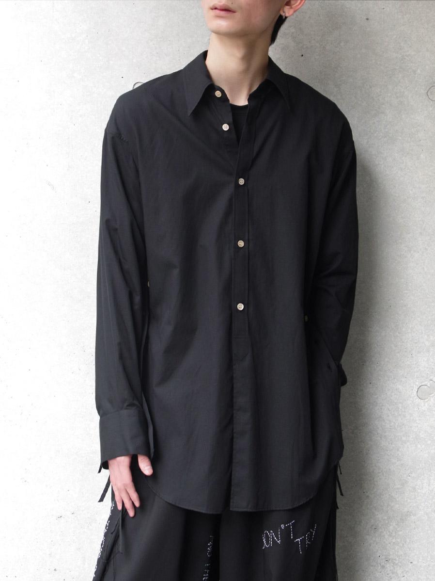 "【SALE:2020SS】 BED J.W. FORD (ベッドフォード) ""Ribbon Shirt"" <シャツ> - BLACK"