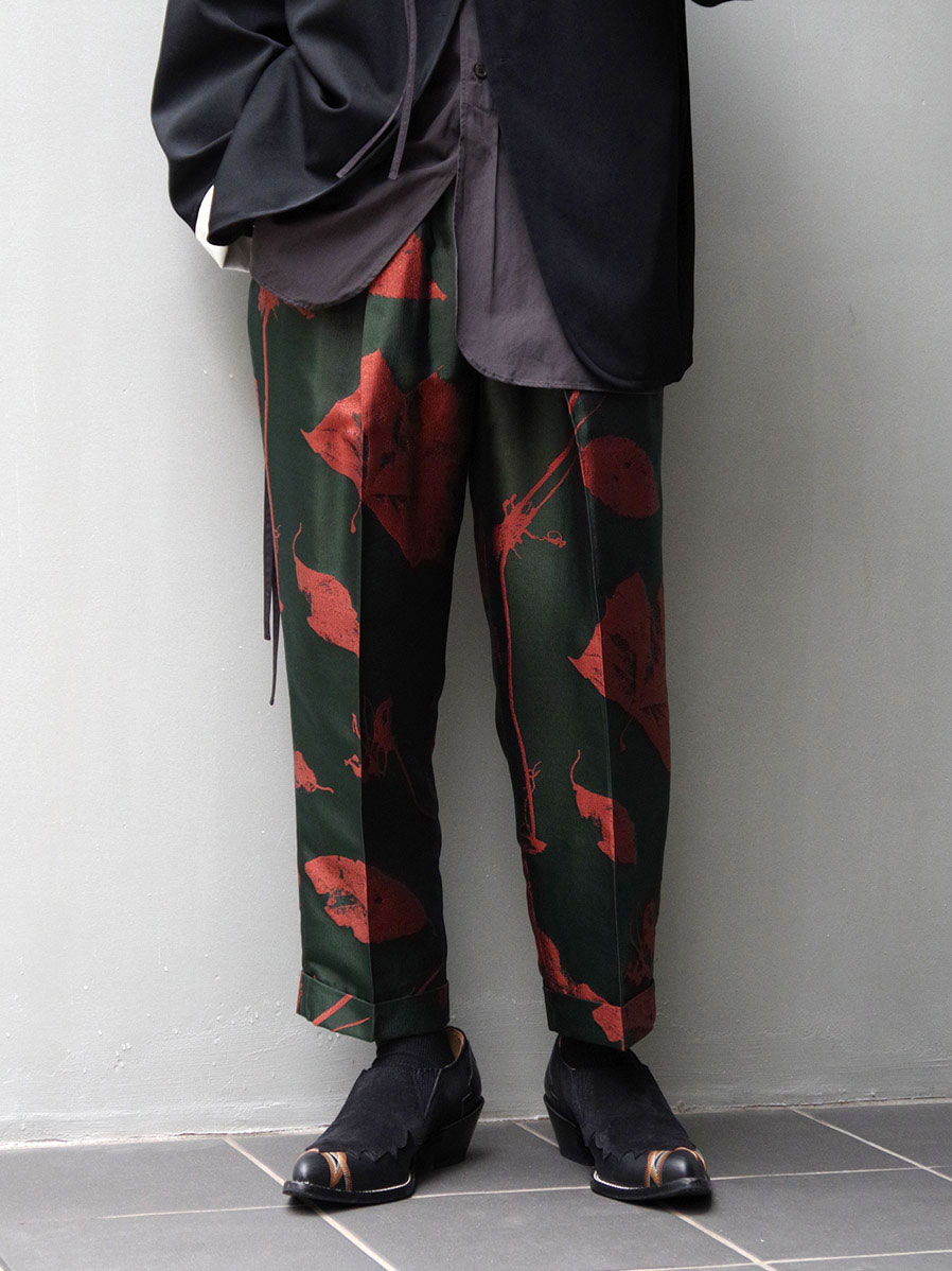 """BED J.W. FORD """"OVER WAIST (CROPPED) JACQUARD PATTERN"""" - FOREST"""