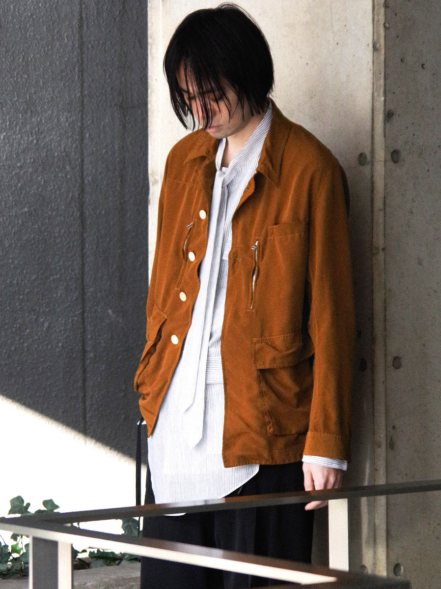 "【2021SS】 BED J.W. FORD (ベッドフォード) ""INNER BLOUSON"" <ブルゾン> - BROWN"