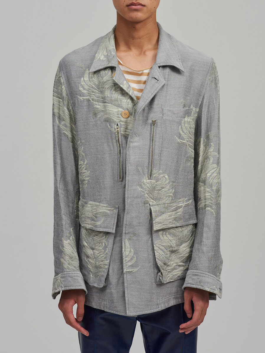 """【2021SS】 BED J.W. FORD (ベッドフォード) """"INNER BLOUSON FEATHER PATTERN"""" <ブルゾン>"""