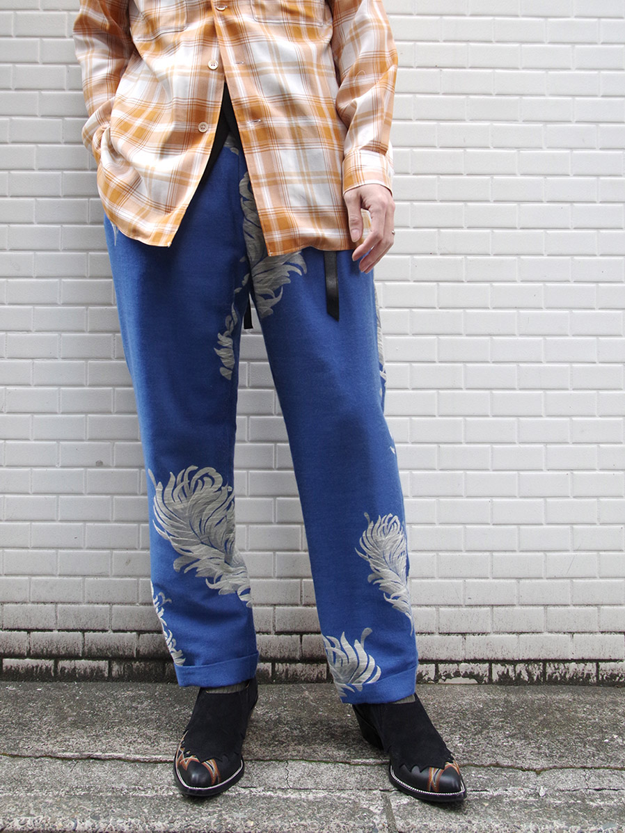 """LAST-1.【2021SS】 BED J.W. FORD (ベッドフォード) """"JACQUARD TAPERED TROUSERS"""" <パンツ> - BLUE"""