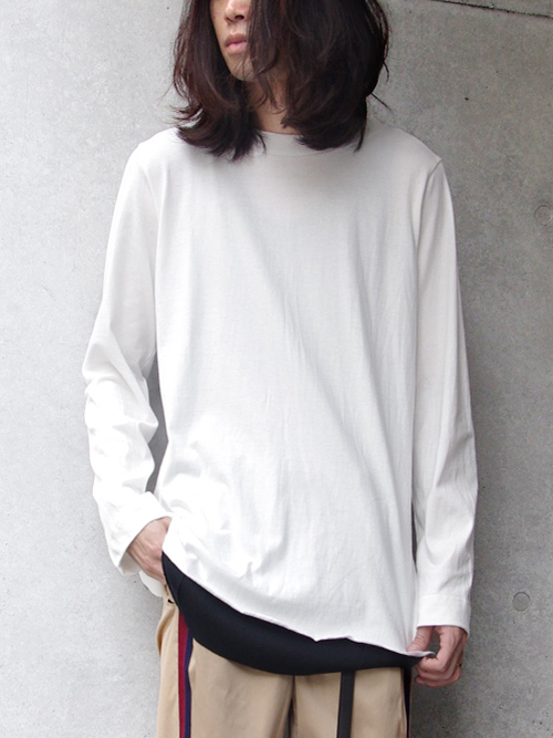 "【16AW】 BED J.W. FORD (ベッドフォード) ""Long sleeve."" <カットソー> - WHITE"