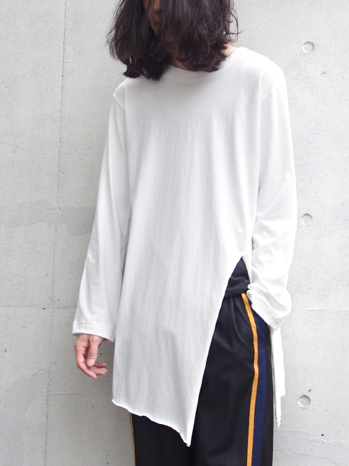 "【16AW】 BED J.W. FORD (ベッドフォード) ""Slit sleeve."" <カットソー> - WHITE"