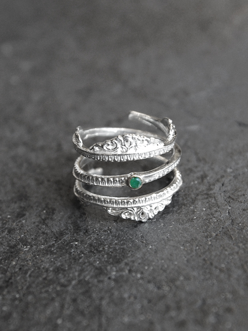 """【予約商品】BED J.W. FORD (ベッドフォード) """"Silver Roll Ring."""" <シルバーリング>"""