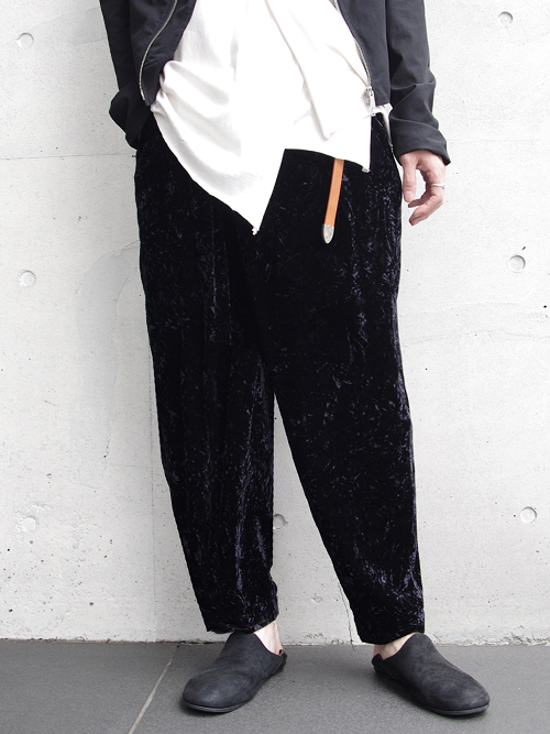 """【17AW】 BED J.W. FORD (ベッドフォード) """"Wrapped Trousers."""" <パンツ> - BLACK"""