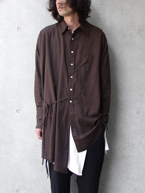 "【17AW】 BED J.W. FORD (ベッドフォード) ""Scarf Shirt. "" <シャツ> - CHOCOLATE"