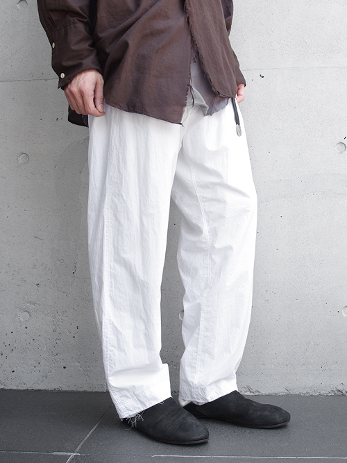 """【17AW】 BED J.W. FORD (ベッドフォード) """"WHITE Trousers."""" <パンツ>"""