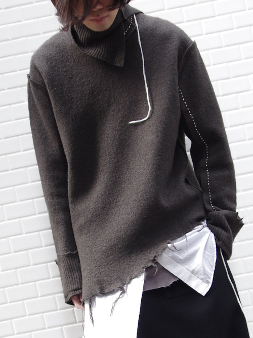 "【17AW】 BED J.W. FORD (ベッドフォード) ""Turtle Neck."" <タートルネックニット> - BROWN"