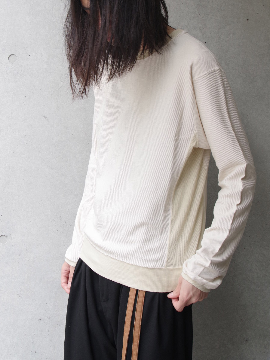 """【19AW】 BED J.W. FORD (ベッドフォード) """"Crew neck"""" <カットソー> - NATURAL"""