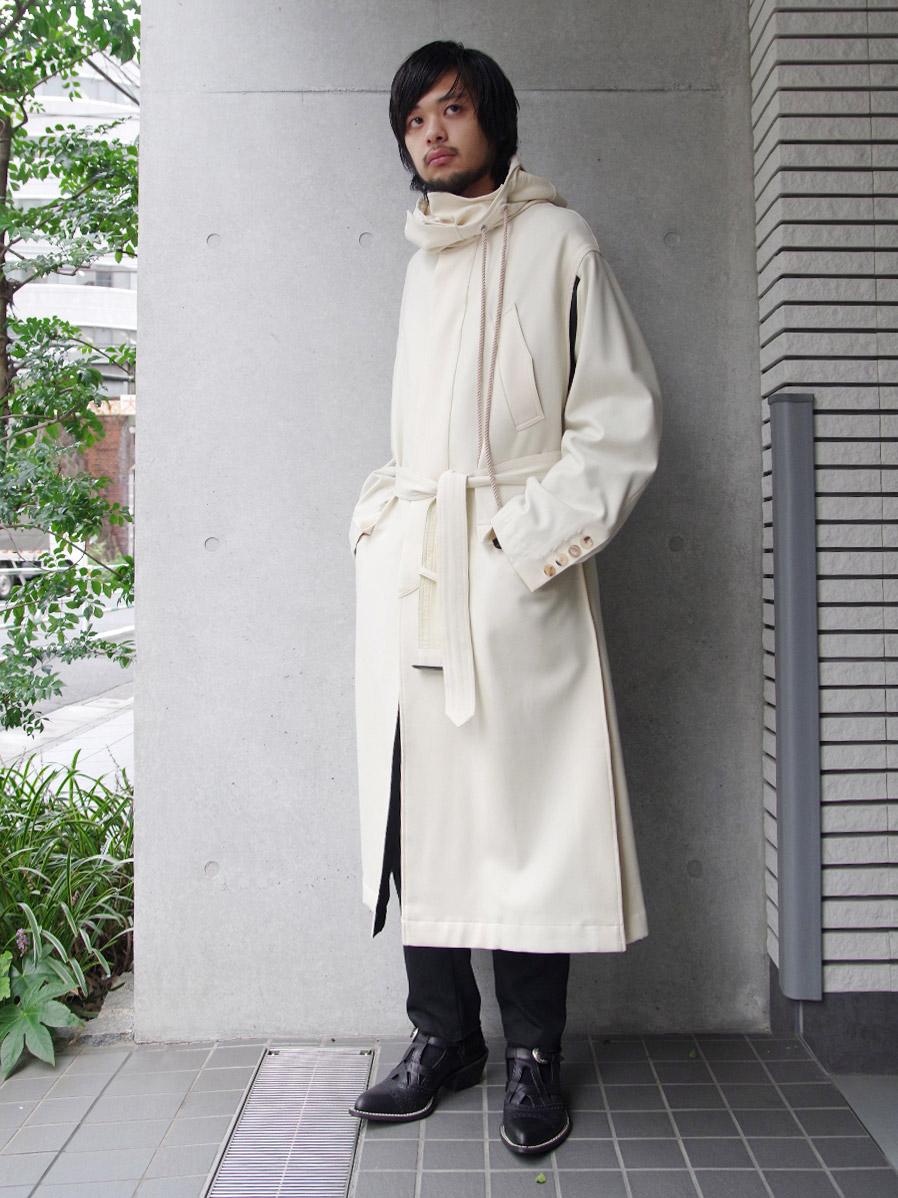 """【19AW】 BED J.W. FORD (ベッドフォード) """"Mods coat"""" <モッズコート> - OFF WHITE"""