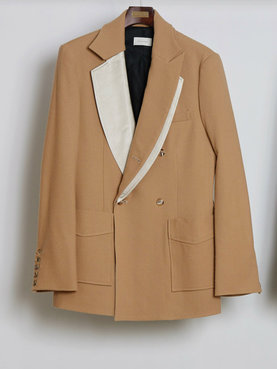 "【19AW】 BED J.W. FORD (ベッドフォード) ""Fake layered jacket"" <テーラードジャケット> - CAMEL"