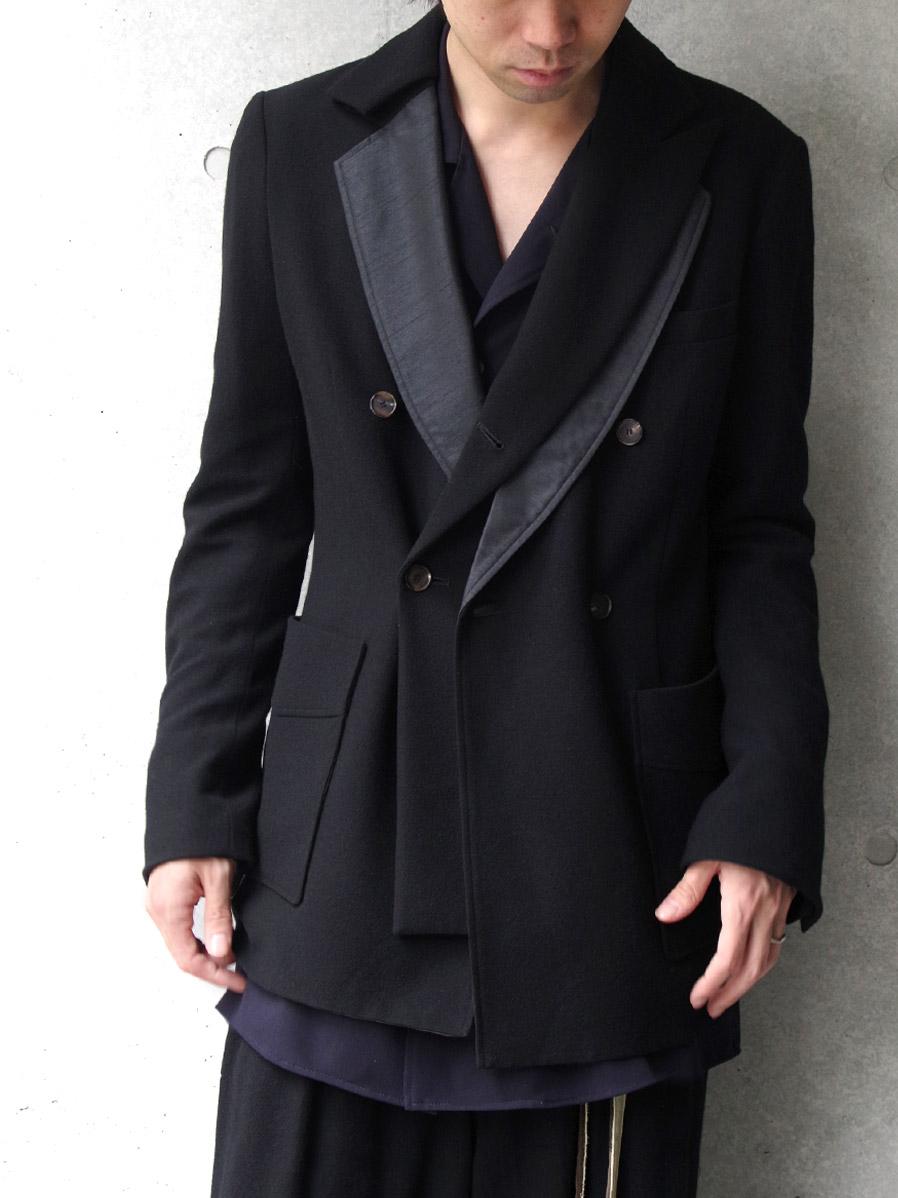 """【19AW】 BED J.W. FORD (ベッドフォード) """"Fake layered jacket"""" <テーラードジャケット> - BLACK"""