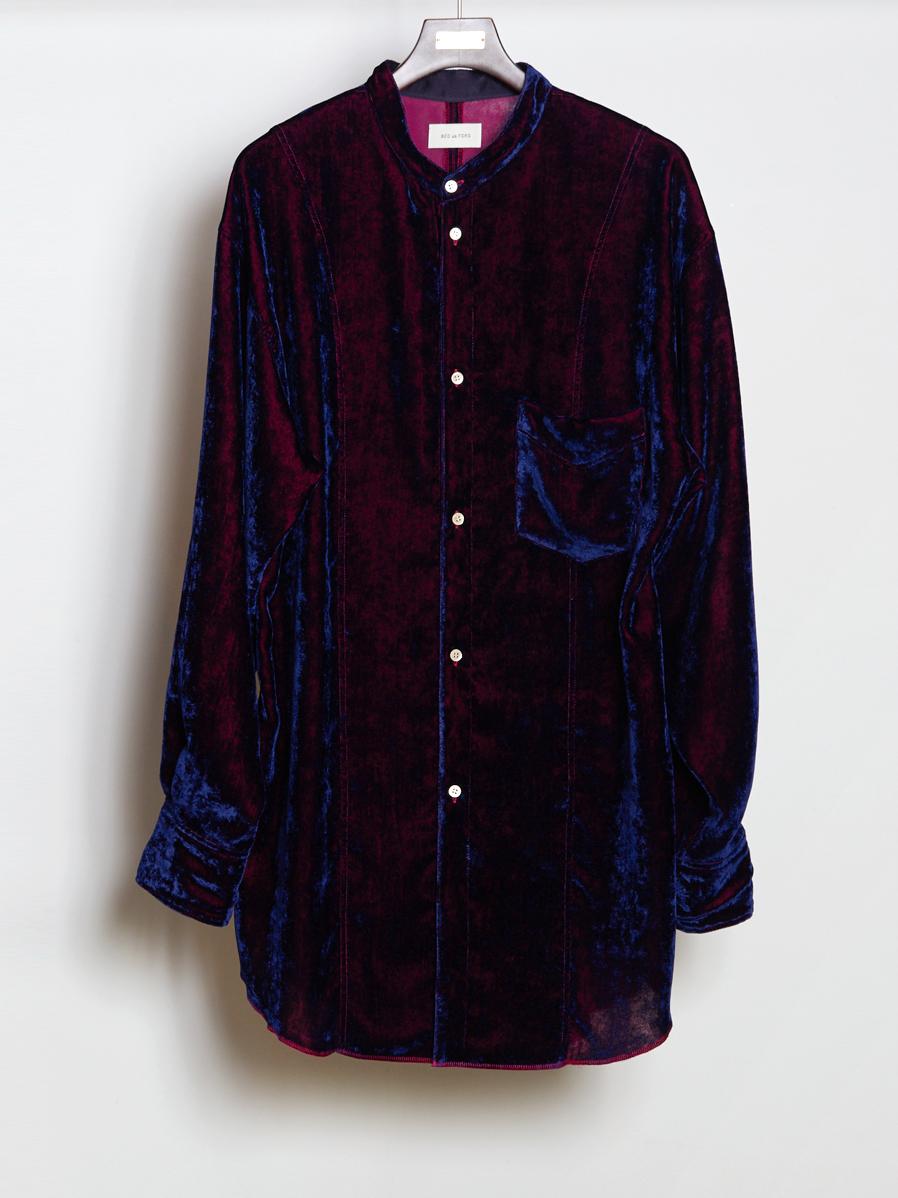 """【19AW】 BED J.W. FORD (ベッドフォード) """"Long velvet shirt"""" <シャツ>"""