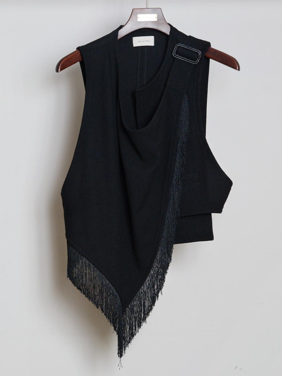 "【19AW】 BED J.W. FORD (ベッドフォード) ""Fringe scarf vest"" <ベスト>"