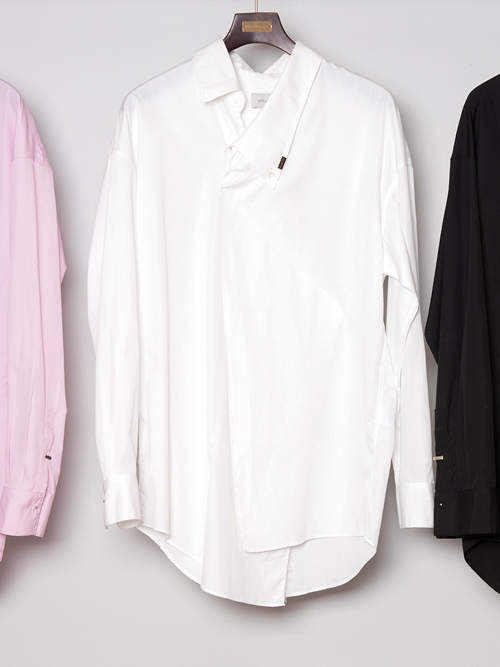"""【19SS】 BED J.W. FORD (ベッドフォード) """"Pull over shirt ver.2"""" <シャツ> - WHITE"""