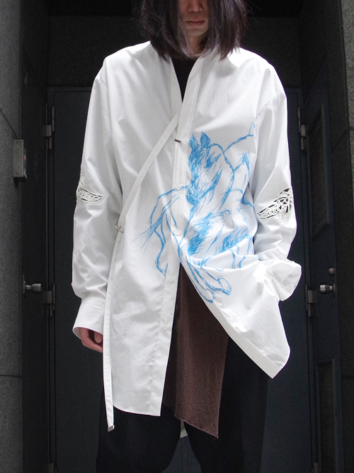 "【19SS】 BED J.W. FORD (ベッドフォード) ""Long shirt"" <ロングシャツ> - WHITE"