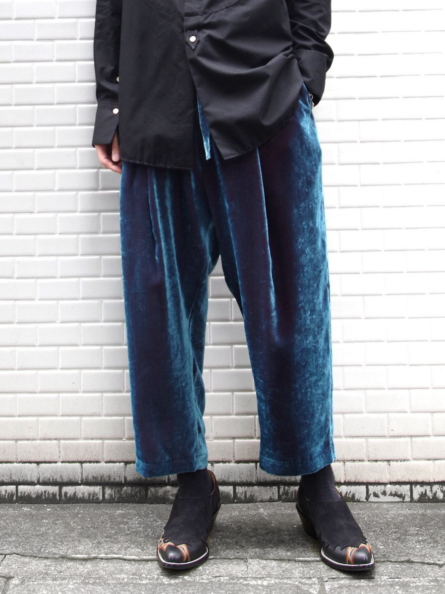 "【2020AW】 BED J.W. FORD (ベッドフォード) ""Velvet Cropped Pants"" <パンツ>"