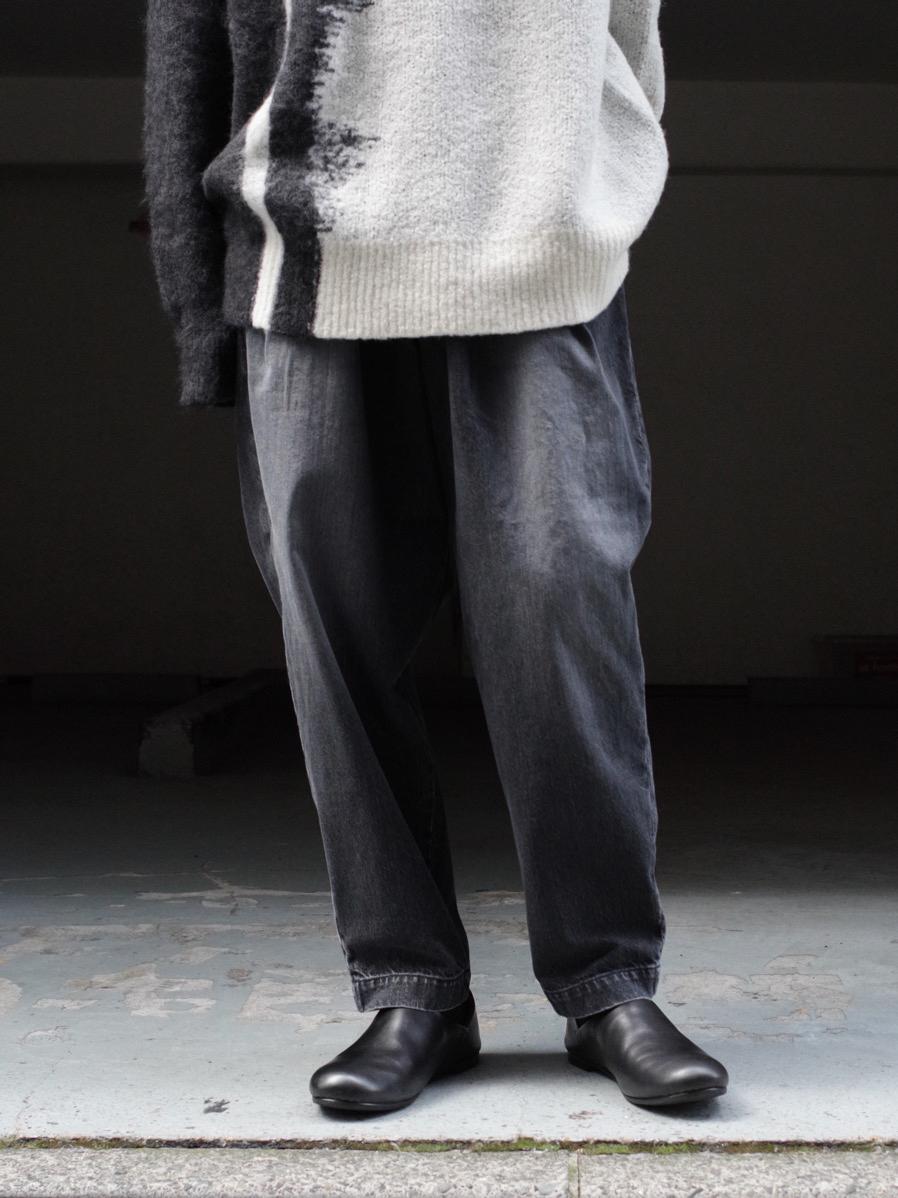 "Dulcamara ""21AW デニムオーバータックPT"" - BLACK"