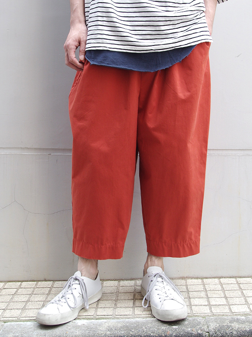 """<18SS> Dulcamara (ドゥルカマラ) """"チノチノワイドイージーPT パンツ"""" - テラコッタ (オレンジ系)"""