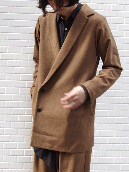 """<17AW> Edwina Horl  (エドウィナホール) // """"DOUBLE BREASTED CHESTER COAT"""" <チェスターコート> - """"THE EARTH"""" CAMEL"""
