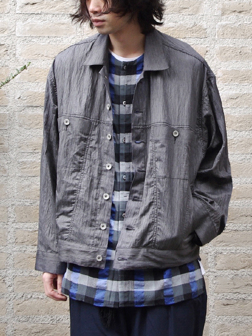 "<ARCHIVE COLLECTION> Edwina Horl  (エドウィナホール) // ""OVERSIZED BLOUSON"" <ブルゾン> - Elephant Dark"