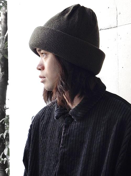 """【SALE】 Edwina Horl  (エドウィナホール) // """"KNIT CAP"""" <ニットキャップ> - DARK GREEN"""