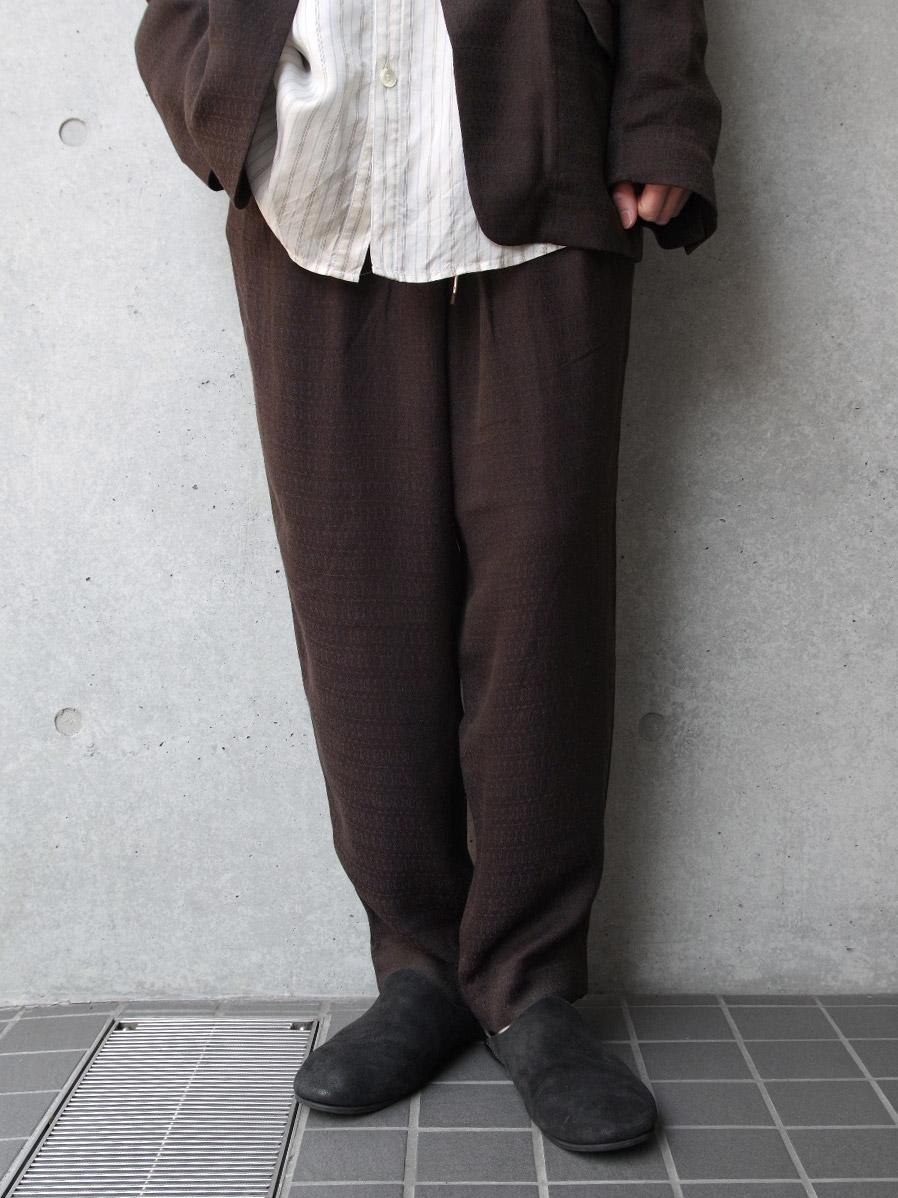 "<19SS> Edwina Horl  (エドウィナホール) // ""WIDE PANTS"" <ワイドパンツ> - REALITY(BROWN)"