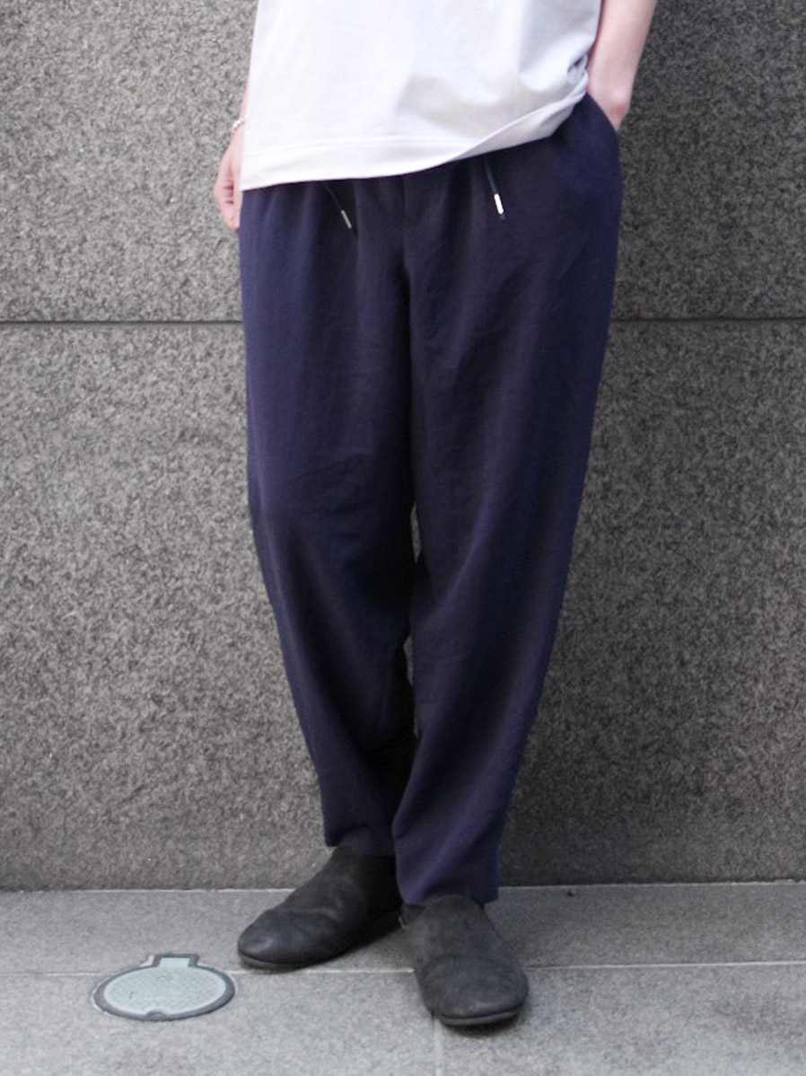 "<19SS> Edwina Horl  (エドウィナホール) // ""WIDE PANTS"" <ワイドパンツ> - NAVY"