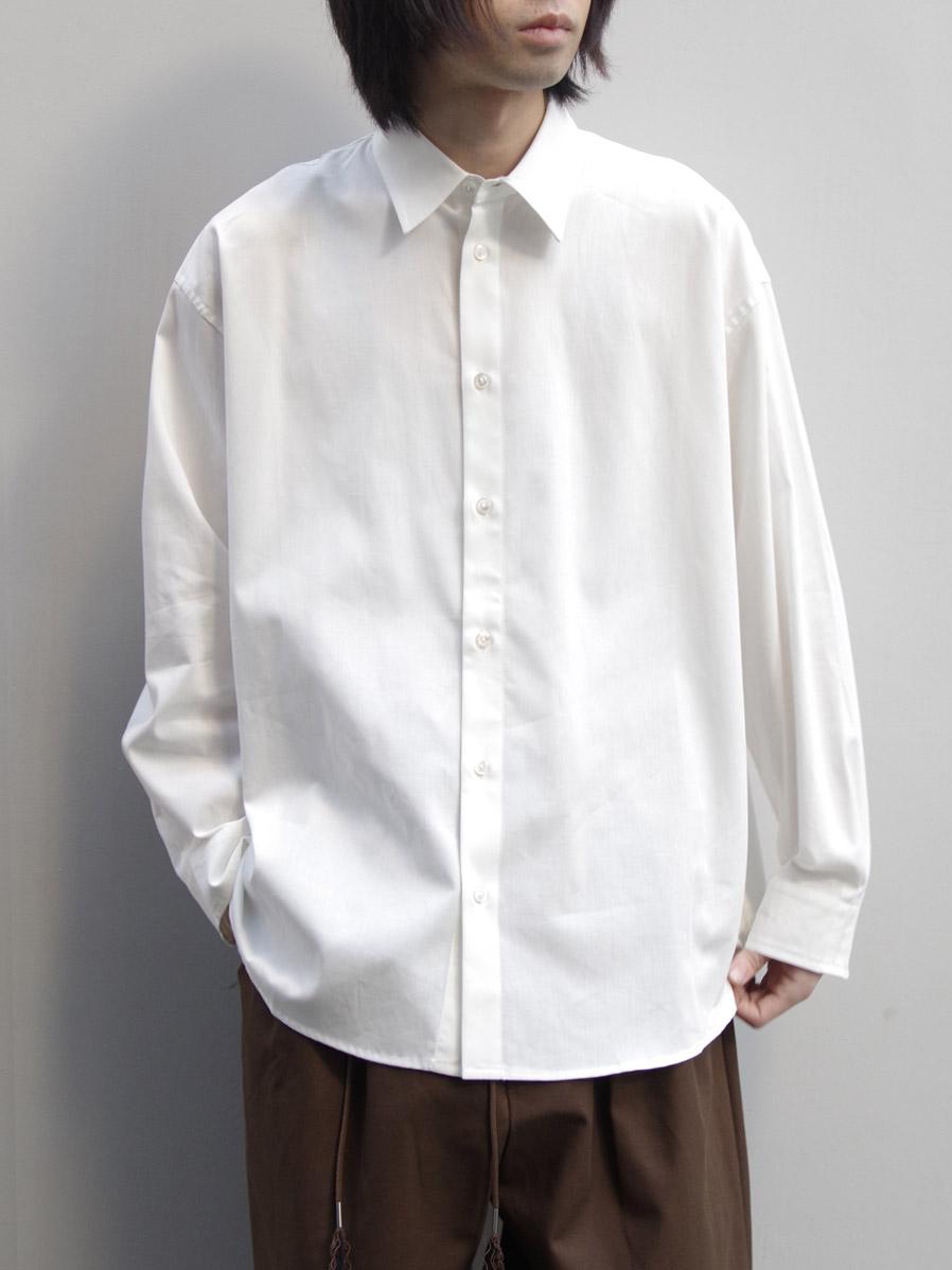 """<20SS> Edwina Horl  (エドウィナホール) // """"WIDE SHIRT"""" <ワイドシャツ> - WHITE"""
