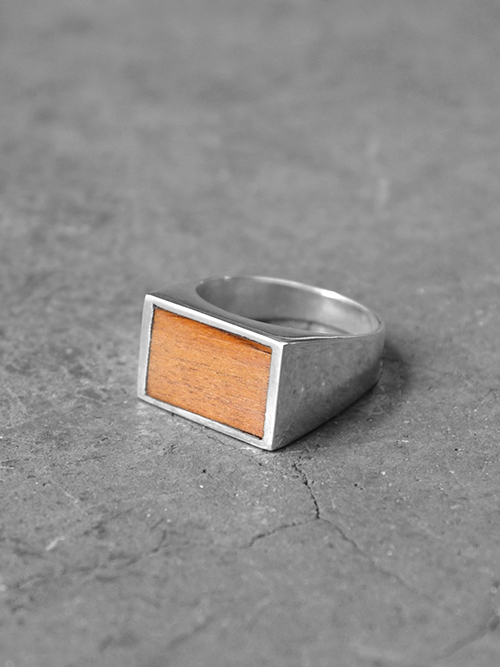 "FABIANO GOULART ""RECTANGLE WOOD&SILVER RING"" <シルバーリング>"