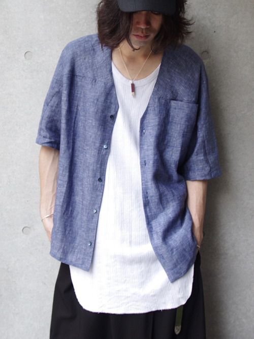 "HOUSE OF THE VERY ISLAND'S (ハウスオブザベリーアイランド) ""LOOSE CUT BUTTONED SHIRT""  <シャツ>"