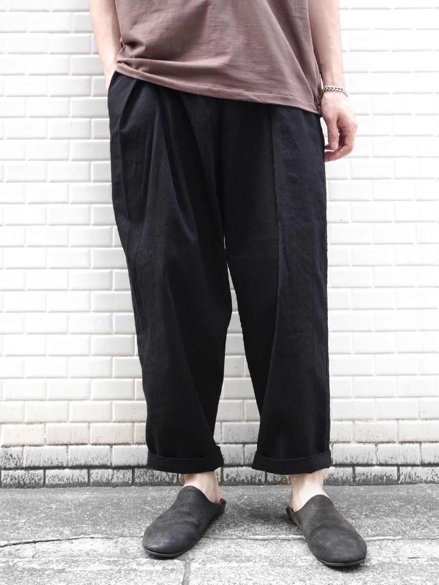 "RELAXFIT (リラックスフィット) ""WRAP EASY DENIM"" <イージーデニム> - BLACK"