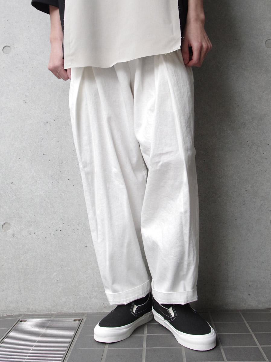 "【SHELTER別注/GILETの新ブランド】 RELAXFIT (リラックスフィット) ""WRAP EASY DENIM"" <イージーデニム> - WHITE"