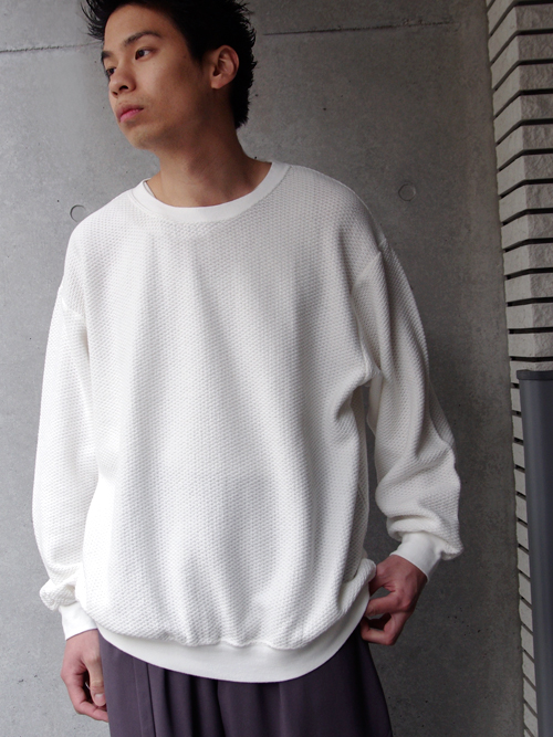 """<18SS>Iroquois (イロコイ) """"20/2 PARALLELED YARN L/S ルーズシルエットカットソー"""" - WHITE"""