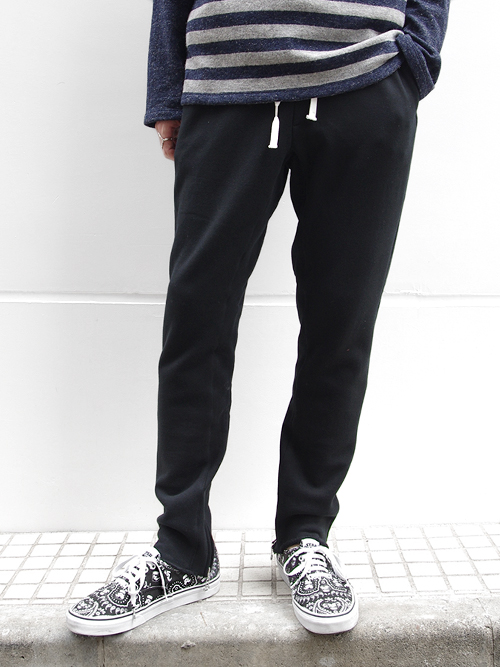 "JieDa(ジエダ)  ""SWEAT ZIP PANTS"" - BLACK <スウェットパンツ>"