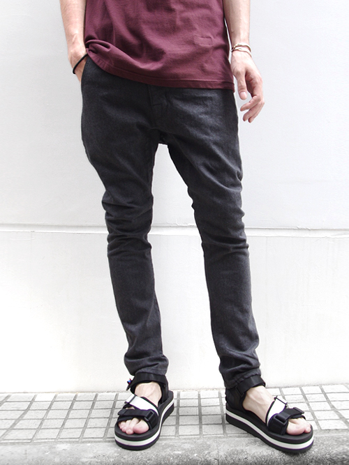 "【SHELTER別注】 JieDa(ジエダ)  ""SARROUEL SKINNY DENIM"" - CHARCOAL GRAY <サルエルスキニーパンツ>【送料無料】"